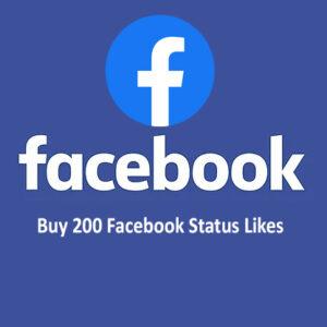 Buy 200 Facebook Status Likes